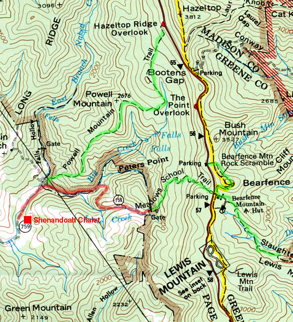 Ski Virginia Map on